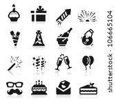 birthday icons | Shutterstock .eps vector #106665104