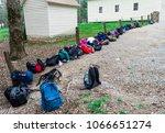 horizontal shot of a row of... | Shutterstock . vector #1066651274