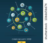 abstract cyber security... | Shutterstock .eps vector #1066656674