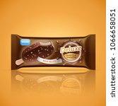 ice cream bar packaging design... | Shutterstock .eps vector #1066658051