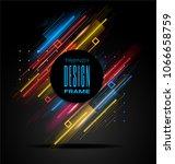 vector modern frame with... | Shutterstock .eps vector #1066658759