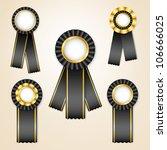 set of black vector prize... | Shutterstock .eps vector #106666025