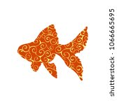goldfish fish spiral pattern...   Shutterstock .eps vector #1066665695