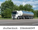 truck with oil tank on road   Shutterstock . vector #1066666049