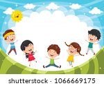 vector illustration of funny... | Shutterstock .eps vector #1066669175