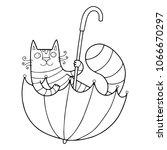 lovely cat illustration for... | Shutterstock .eps vector #1066670297