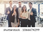group of young business people... | Shutterstock . vector #1066674299