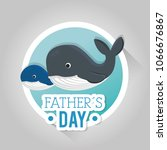 happy fathers day card with... | Shutterstock .eps vector #1066676867