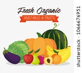 fresh vegetables and fruits... | Shutterstock .eps vector #1066676951