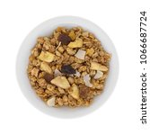 top view of granola with freeze ... | Shutterstock . vector #1066687724