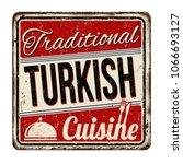 traditional turkish cuisine... | Shutterstock .eps vector #1066693127