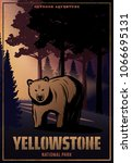 Vintage Colored Yellowstone...