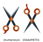 set retro vintage metal dark... | Shutterstock .eps vector #1066698701