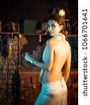 young elegant seductive woman...   Shutterstock . vector #1066701641