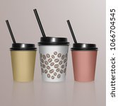 set of coffee cup   mockup... | Shutterstock .eps vector #1066704545