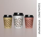 set of coffee cup   mockup...   Shutterstock .eps vector #1066704551