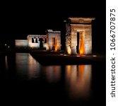 temple de debod at night in... | Shutterstock . vector #1066707875