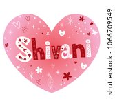 shivani feminine given name | Shutterstock .eps vector #1066709549