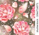 seamless pattern background...   Shutterstock .eps vector #1066716071