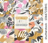 set of seamless pattern with... | Shutterstock .eps vector #1066723841