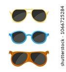 set of sunglasses isolated on... | Shutterstock .eps vector #1066725284