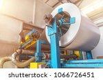roll of galvanized steel or... | Shutterstock . vector #1066726451