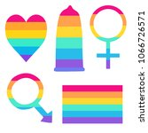 simple set of symbols in colors ...   Shutterstock .eps vector #1066726571
