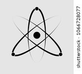 atom structure icon isolated on ...   Shutterstock .eps vector #1066728077