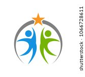people reach star logo template | Shutterstock .eps vector #1066728611