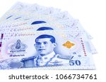 new thai 50 baht banknotes with ...   Shutterstock . vector #1066734761