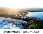 coastal beach sunset   Shutterstock . vector #1066743065