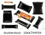 black polymer packaging for... | Shutterstock .eps vector #1066744934
