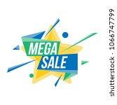 mega sale banner template for... | Shutterstock .eps vector #1066747799