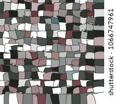 mosaic vector background.... | Shutterstock .eps vector #1066747961