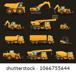 construction machinery  ... | Shutterstock .eps vector #1066755644