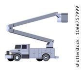 minimalistic icon bucket truck...   Shutterstock .eps vector #1066757999