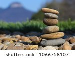 smooth rocks stacked up in... | Shutterstock . vector #1066758107