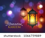 ramadan kareem greeting... | Shutterstock .eps vector #1066759889