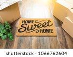home sweet home welcome mat ... | Shutterstock . vector #1066762604