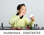 close up of asian kid learning... | Shutterstock . vector #1066766765