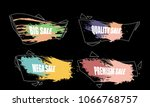 set of colorful abstract grunge ... | Shutterstock .eps vector #1066768757