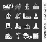 industry icons set vector white ... | Shutterstock .eps vector #1066769741