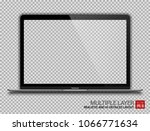 realistic darkgrey notebook... | Shutterstock .eps vector #1066771634