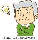 grandfather looks like... | Shutterstock .eps vector #1066771895
