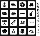 timber industry icons set.... | Shutterstock .eps vector #1066773755