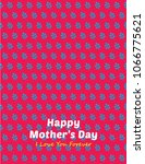 beautiful floral happy mother's ... | Shutterstock .eps vector #1066775621