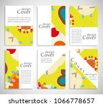 set of a4 cover  abstract...   Shutterstock .eps vector #1066778657