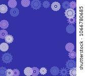 simple outline mandalas on... | Shutterstock .eps vector #1066780685