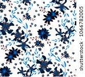small flowers. seamless pattern ... | Shutterstock .eps vector #1066782005
