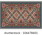 design ethnic rug in bright... | Shutterstock . vector #106678601